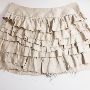 EXPRESS Raw Hem Mini Skirt | sz 2